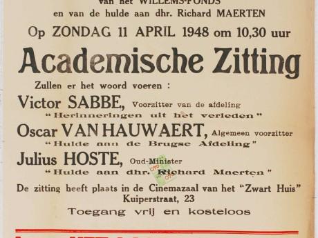 Willemsfonds Brugge, 75 jaar 1948