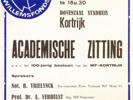 Willemsfonds Kortrijk, 100 jaar 1977