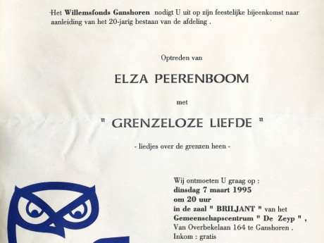 Willemsfonds Ganshoren, 20 jaar 1995