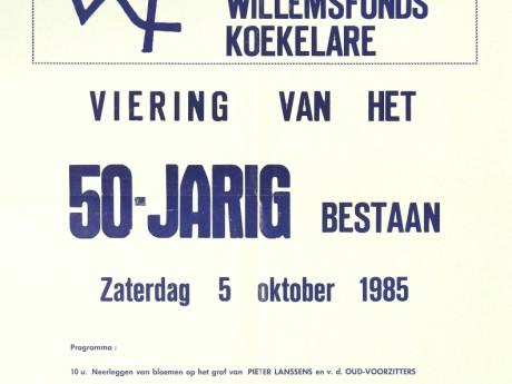 Willemsfonds Koekelare, 50 jaar 1985