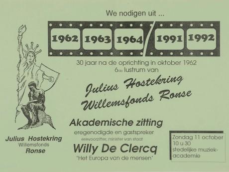 Willemsfonds Ronse, 30 jaar 1992